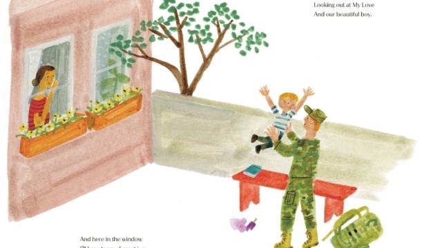 Иллюстрация из книги The Bench Меган Маркл
